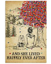 Pomeranian She Lived Happily 11x17 Poster front