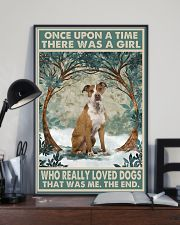 Tan Staffordshire Terrier Once Upon A Time 11x17 Poster lifestyle-poster-2