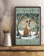 Tan Staffordshire Terrier Once Upon A Time 11x17 Poster lifestyle-poster-3