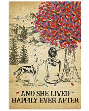 Staffordshire Terrier She Lived Happily 11x17 Poster front