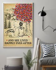Staffordshire Terrier She Lived Happily 11x17 Poster lifestyle-poster-1
