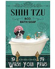 shih tzu bath soap 11x17 Poster front