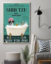shih tzu bath soap 11x17 Poster lifestyle-poster-1