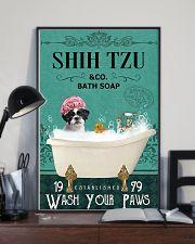 shih tzu bath soap 11x17 Poster lifestyle-poster-2