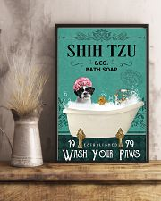 shih tzu bath soap 11x17 Poster lifestyle-poster-3