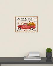 golden retriever pumpkin farm 24x16 Poster poster-landscape-24x16-lifestyle-09