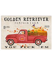 golden retriever pumpkin farm Horizontal Poster tile