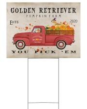 golden retriever pumpkin farm Yard Signs tile