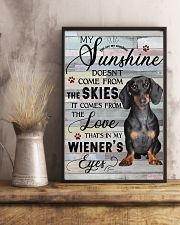 Dachshund Comes From The Love 11x17 Poster lifestyle-poster-3