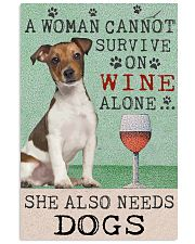 Jack Russell Woman Cannot Survive 11x17 Poster front