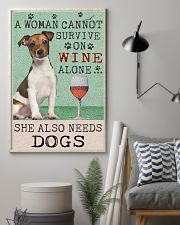Jack Russell Woman Cannot Survive 11x17 Poster lifestyle-poster-1