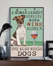 Jack Russell Woman Cannot Survive 11x17 Poster lifestyle-poster-2