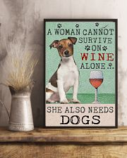 Jack Russell Woman Cannot Survive 11x17 Poster lifestyle-poster-3
