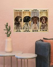 German Shorthaired alway be by your side 24x16 Poster poster-landscape-24x16-lifestyle-22