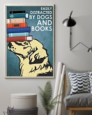 Dog Golden And Books 11x17 Poster lifestyle-poster-1