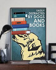 Dog Golden And Books 11x17 Poster lifestyle-poster-2