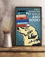 Dog Golden And Books 11x17 Poster lifestyle-poster-3