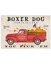 boxer pumpkin farm Horizontal Poster tile
