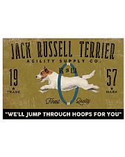 jack russell agility supply 24x16 Poster front