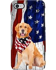 Golden Usa Flag Phone Case i-phone-8-case