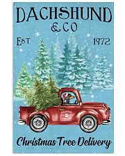 Dachshund Christmas Tree Delivery 11x17 Poster front