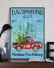 Dachshund Christmas Tree Delivery 11x17 Poster lifestyle-poster-2