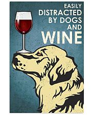 Dog Golden And Wine 11x17 Poster front