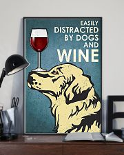 Dog Golden And Wine 11x17 Poster lifestyle-poster-2