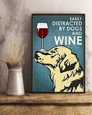 Dog Golden And Wine 11x17 Poster lifestyle-poster-3