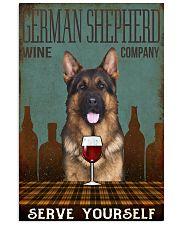 german shepherd serve yourself 11x17 Poster front