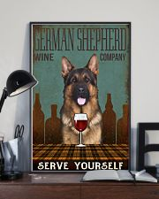 german shepherd serve yourself 11x17 Poster lifestyle-poster-2