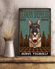 german shepherd serve yourself 11x17 Poster lifestyle-poster-3