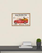 dachshund pumpkin farm 24x16 Poster poster-landscape-24x16-lifestyle-09