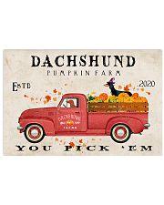 dachshund pumpkin farm Horizontal Poster tile