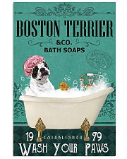 Dog Boston Terrier Bath Soap 11x17 Poster front