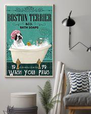 Dog Boston Terrier Bath Soap 11x17 Poster lifestyle-poster-1