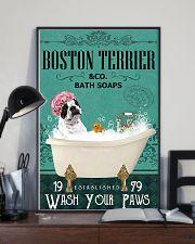 Dog Boston Terrier Bath Soap 11x17 Poster lifestyle-poster-2