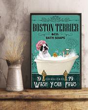 Dog Boston Terrier Bath Soap 11x17 Poster lifestyle-poster-3