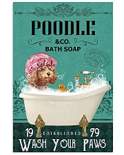 Dog Poodle Bath Soap 11x17 Poster front
