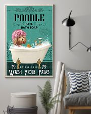 Dog Poodle Bath Soap 11x17 Poster lifestyle-poster-1