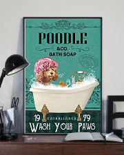 Dog Poodle Bath Soap 11x17 Poster lifestyle-poster-2