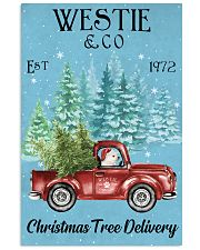 Westie Christmas Tree Delivery 11x17 Poster front