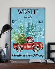Westie Christmas Tree Delivery 11x17 Poster lifestyle-poster-2
