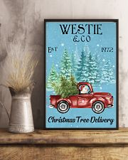 Westie Christmas Tree Delivery 11x17 Poster lifestyle-poster-3