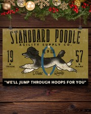 standard poodle agility supply 24x16 Poster aos-poster-landscape-24x16-lifestyle-28