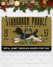 standard poodle agility supply 24x16 Poster aos-poster-landscape-24x16-lifestyle-29