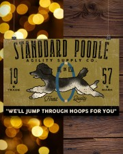 standard poodle agility supply 24x16 Poster aos-poster-landscape-24x16-lifestyle-30