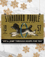 standard poodle agility supply 24x16 Poster aos-poster-landscape-24x16-lifestyle-31