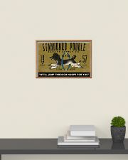 standard poodle agility supply 24x16 Poster poster-landscape-24x16-lifestyle-09