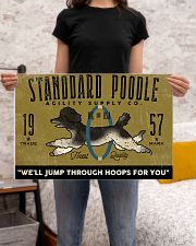 standard poodle agility supply 24x16 Poster poster-landscape-24x16-lifestyle-20
